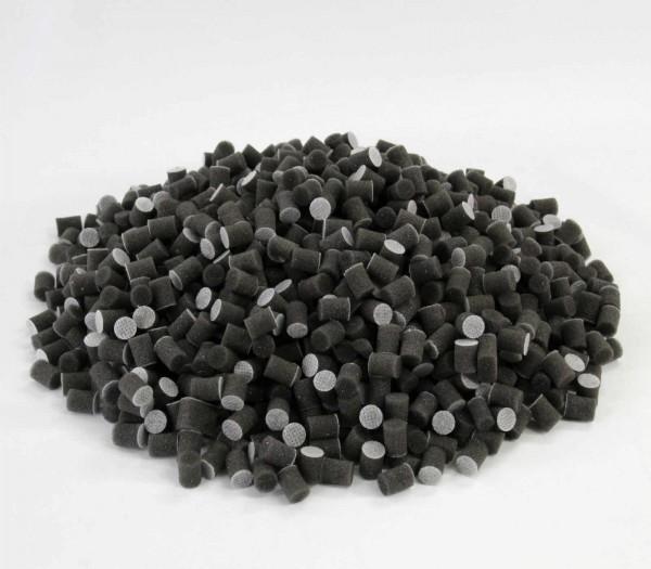1kg Schaumstoffsticks schwarz, Schaumstoffflocken als Füllmaterial, Bastelbedarf
