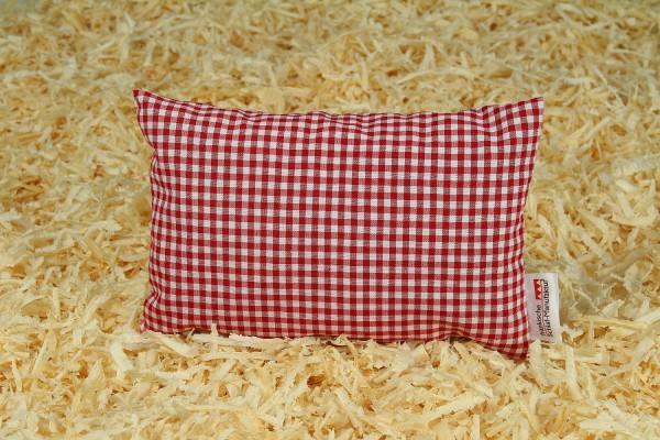 Zirbenkissen 20x30cm, Rot Weiß, Füllung Zirbenspäne