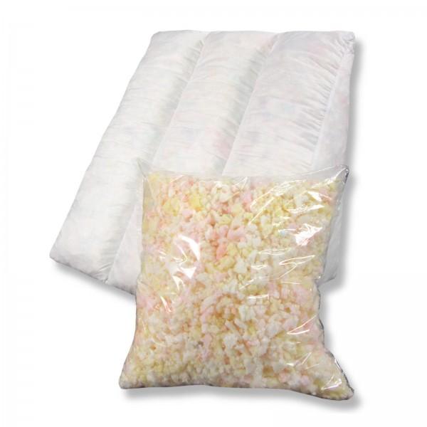 Keilkissen Triocell mit 300g Nachfüllpack, Sitzkissen, Lesekissen, Rückenkissen,